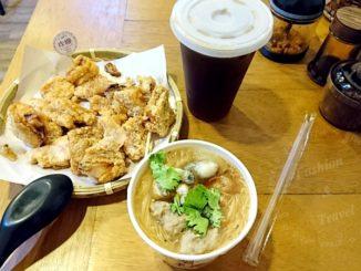 來自中和的炸糊手工麵線在三重碧華街開分店,可以吃到好吃的炸雞排和麵線 @吳大妮