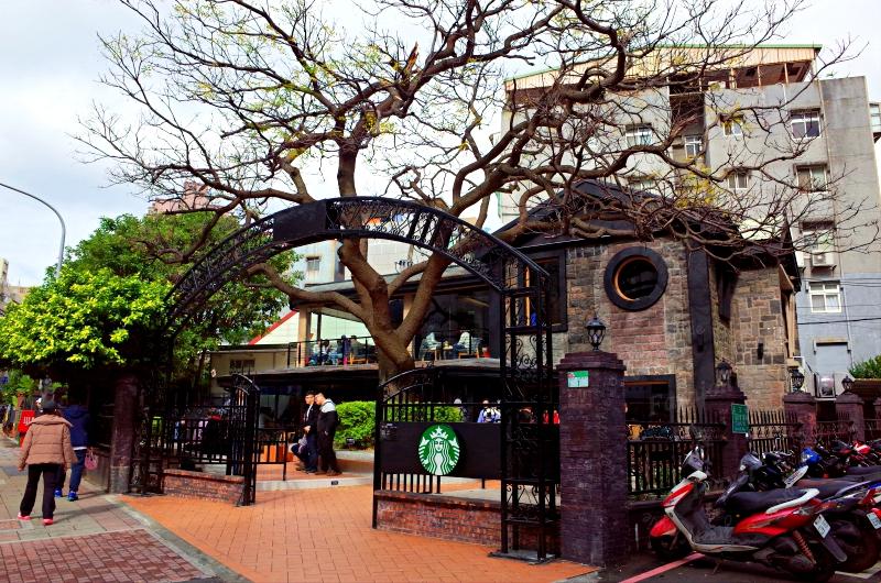 星巴克 Starbucks天母天玉門市,全台第一花園露天咖啡座